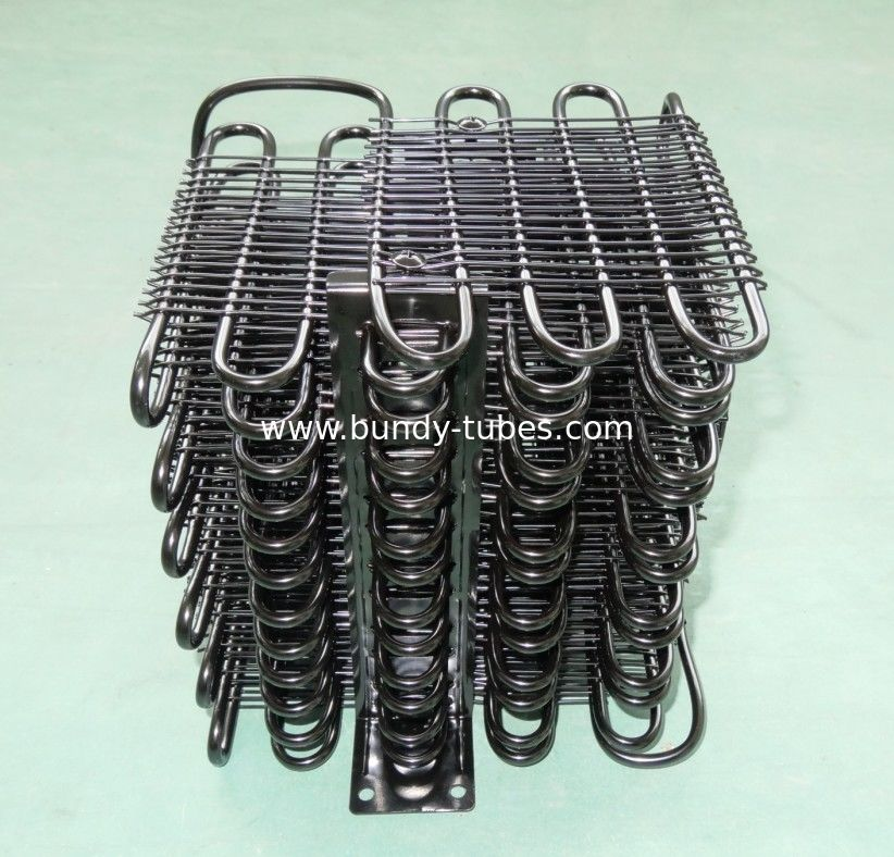 Black E Coating Wire Tube Condenser With Refrigerator Spare Parts Meet European Standard