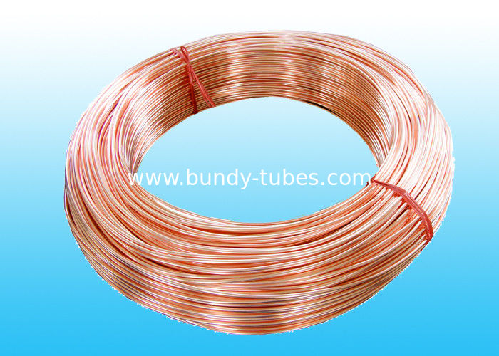 Low Carbon Copper Coated Bundy Tube 6.35mm X 0.6 mm GB/T 24187-2009