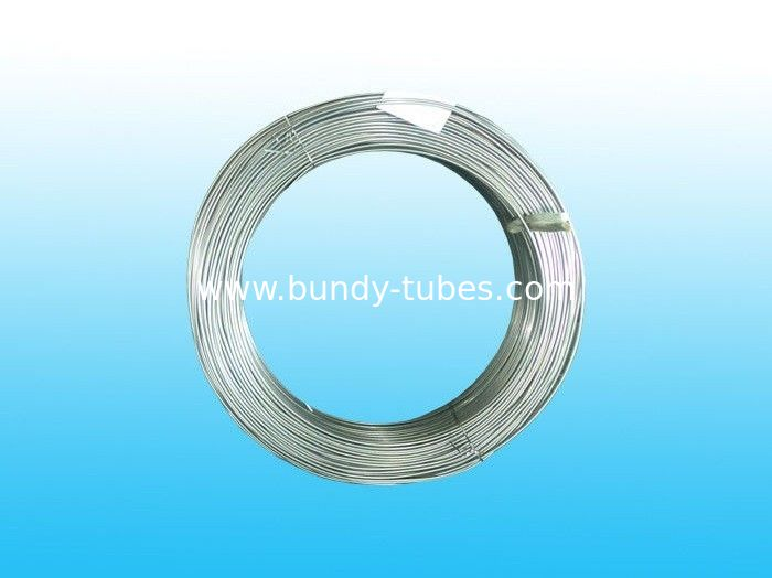 Welded Zn Coated Bundy Pipe , Galvanized Refrigeration Tube 4 * 0.5 mm